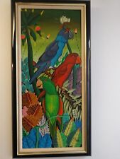 ORIGINAL OIL PAINTING OF PARROTS SIGNED BY J. ARCELIN OR F. ARCELIN