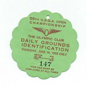 1955 USGA 55th US OPEN GOLF CHAMPIONSHIP TICKET BADGE OLYMPIC CLUB SAN FRANCISCO