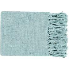 Tilda by Surya Throw Blanket, Aqua - TID010-5951