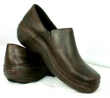 Timberland PRO Womens Size 9.5 Brown Leather Clogs (89688) Non-slip Sole