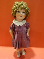 All Original 1938 CARL BERGNER Shirley Temple Composition Doll Germany , Rare