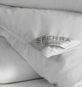 SFERRA SOMERSET TWIN GOOSE DOWN DUVET COMFORTER LIGHTWEIGHT WHITE NEW $935
