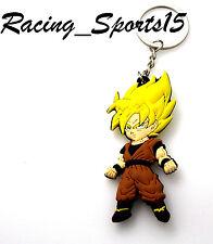 1PCS Dragon Ball Z Figure Keychain PVC Goku Double sided Printed New