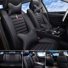 Schwarzer Velours Sitzbezüge für BMW SERIE 1 1er Autositzbezug VORNE