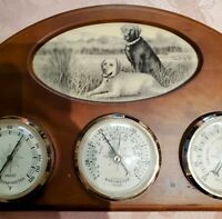 VINTAGE WEATHER STATION BAROMETER THERMOMETER Humidity with photo space
