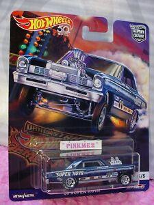 '66 SUPER NOVA Gasser☆Blue Chevy☆2018 Hot Wheels DRAG STRIP DEMONS Car Culture