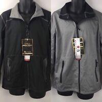 Point Zero Men's Reversible Full-Zip Weatherproof Stand-Collar Jacket Black/Gray