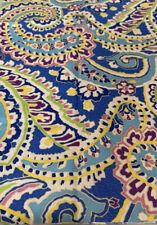 Vera Bradley inspired Capri Blue Cotton Fabric Crafts Masks Sewing 14