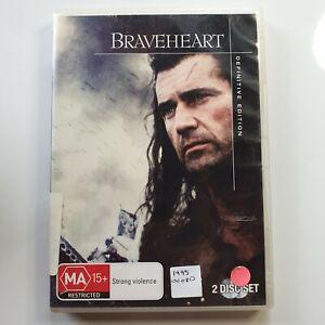 Braveheart: Definitive Edition   DVD Movie   Mel Gibson, Sophie Marceau   Drama