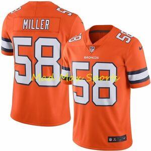 VON MILLER Denver BRONCOS Nike NFL COLOR RUSH Limited THROWBACK Jersey Sz S-2XL