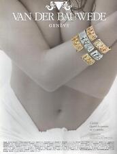 ▬► PUBLICITE ADVERTISING AD Bijou Jewel VAN DER BAUWEDE Collection Lierre