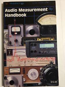 Audio Precision Bob Metzler Audio Measurement Handbook
