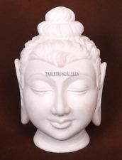 Alabaster Marble Buddha Head Buddism Replica Sculpture Fine Art Deco Gifts H2246