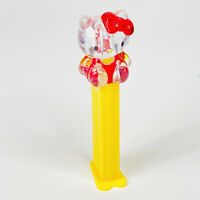 Hello Kitty Pez Dispenser Clear Head Yellow Stem Classic Candy Toy Vintage
