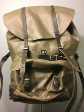 Vtg Swiss Military Backpack Rubberized Army Waterproof Rucksack Mtn Survival Bag