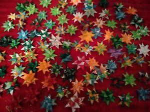 15 Handmade Froebel Moravian Stars German Christmas Ornament Random Colors