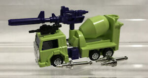 Transformers G1 Construction Mixmaster w/ Card Vintage 1984 Cement Mixer