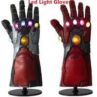 Iron Man Infinity Gauntlet LED Light Gloves Fans Cosplay Avengers Endgame Gift