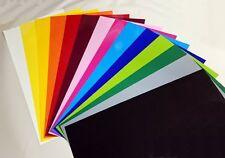 Set 8 Farben, 25cm x 50cm Flockfolie