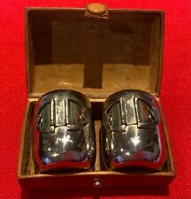 Vintage chrome shot glasses in leather case Germany