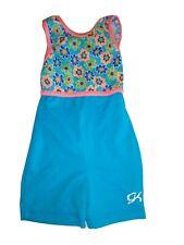 Gk Elite Gymnastics Blue Shorts Leotard Child Small