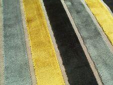 Harlequin Curtain Fabric PLUSH 0.85m Lime/Slate/Charcoal Stripe VELVET 85cm