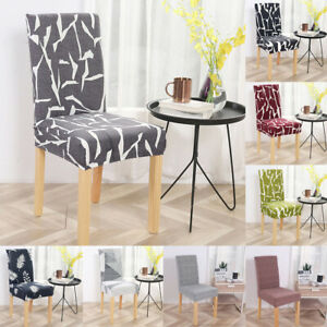1/4/6PC Dining Room Chair Cover Spandex Fabric Kitchen Chair Slipcover Protector