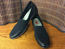 Ecco light Gore tex ladies shoes slide on loafer size 8 US 38 EU black F23