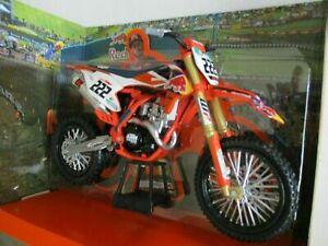 New Ray 1:6 Toni Cairo #222 KTM SXF 450 Die Cast MX Toy Model Motocross Orange