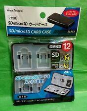 Micro SD/MicroSD Memory Card Storage case Holder Box Protector Black  Made in Jp