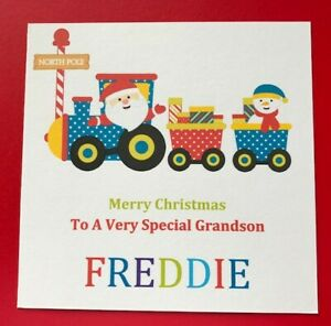 Personalised Boys Christmas Card - Grandson Godson Great Nephew Son Brother