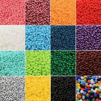 50g 11/0 Glass Seed Beads Opaque Round Pony Bead 2mm Multicolor Mini Spacer