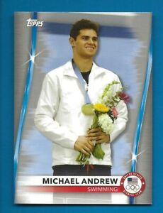 2021 Topps Olympics Silver SP Parallel #25 Michael Andrew Swimming (B