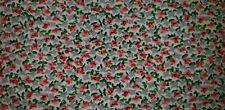 Vintage Ralph Lauren Twin Flat Sheet tiny pink gray green flowers small Usa Made