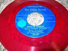"""Country Western C&W Red Vinyl 45 Cowboy Joe Bisko """"Miles of Sorrow"""" Blue Ribbon!"""