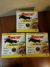 3 Brand New Tomcat Mole Traps Protect Lawn With Safe & Easy Trap Effectively