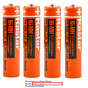Kastar Ni-MH HR03 AAA rechargeable Battery for Panasonic 1.2V 400mAh BK40AAABU