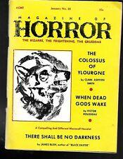 Magazine Of Horror #25 Jan 1969 Pulp Digest Virgil Finlay Clark Ashton Smith VF