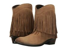 66663653ff5 Roper Size 6 Womens Fringe Shorty Cowboy Western Boots Tan Brown NIB