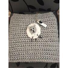 Hand crochet baby/toddler sheep blanket/car seat/pram/crib,grey,baby shower/gift