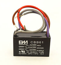 CEILING FAN CAPACITOR CBB61 4+4.5+5uf 250VAC