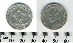 Honduras 1973 - 50 Centavos Copper-Nickel Coin - Indian Chief Lempira