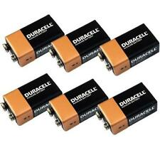 6 x Duracell 9V Batteries . . MN1604 6LR61 . .  Brand New 9 volt block battery