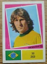 Zico FKS Argentina 78 Picture Stamp #030 - Brazil