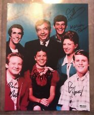 Happy Days Cast Signed 10x13 Photo Ron Howard Tom Bosley Erin Moran Winkler Auto