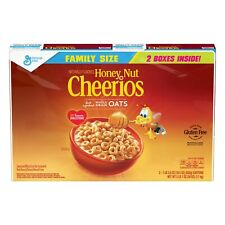 HONEY Cheerios Gluten Free Breakfast Cereal - Family Size 2PC PK- PACK OF 4(8pc)