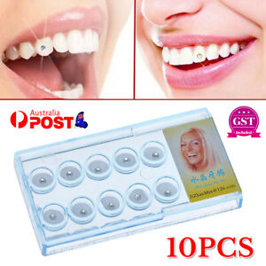 10pcs Dental Oral Teeth Diamond Tooth Gems Crystal Ornaments Jewelry