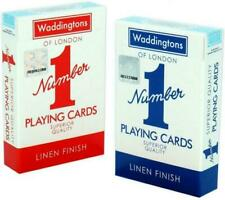 Waddingtons Classic Red and Blue Twin Pack Cards (032919)