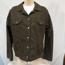 French Cuff Brown Jacket Size XL Metal Buttons