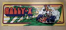 Rally-X arcade marquee sticker. 4 x 10.25 (Buy any 3 stickers, Get One Free!)
